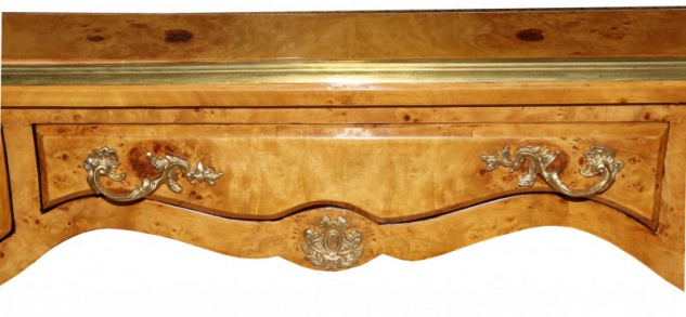 Casa Padrino Luxus Barock Schreibtisch Vogelaugen Ahorn Sekretär - Antik Stil - Vorschau 5
