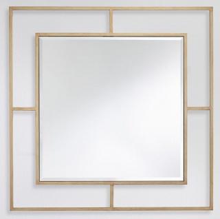 Casa Padrino Luxus Wandspiegel Bronzefarben 90 x 2 x H. 90 cm - Wohnzimmer Spiegel - Schlafzimmer Spiegel - Garderoben Spiegel - Luxus Möbel