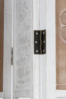 Casa Padrino Landhausstil Raumteiler mit 3 Regalen Antik Weiß / Antik Braun 155 x 2 x H. 181 cm - Shabby Chic Paravent Sichtschutz Trennwand - Vorschau 4