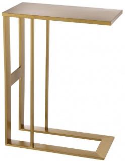 Casa Padrino Designer Edelstahl Beistelltisch Messingfarben 45 x 23 x H. 60 cm - Luxus Kollektion - Designer Möbel