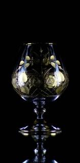 Casa Padrino Luxus Barock Brandy Glas 6er Set Gold Ø 9 x H. 14, 5 cm - Handgefertigte und handgravierte Cognacgläser - Hotel & Restaurant Accessoires - Luxus Qualität - Vorschau 3