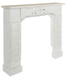 Casa Padrino Landhausstil Shabby Chic Kaminumrandung Antik Weiß 115 x 23 x H. 100 cm - Handgefertigte dekorative Kaminumrandung mit Verzierungen - Vorschau 3