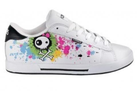 Osiris Skateboard Schuhe Serve Girls White/Becky Bones/Splatter/Multi