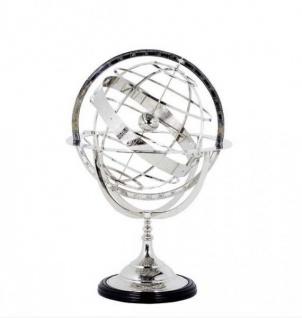 Casa Padrino Luxus Globus Nickel Finish Silber Höhe: 52 cm - Luxus Kollektion - Art Deco