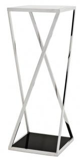 Casa Padrino Luxus Beistelltisch Silber 40, 5 x 40, 5 x H. 110 cm - Designermöbel