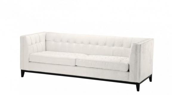 Casa Padrino Luxus Sofa Weiß - Wohnzimmer Möbel