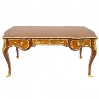 Casa Padrino Luxus Barock Schreibtisch Mahagoni 175cm x 90cm x H.80 - Antik Stil Sekretär Luxus Möbel