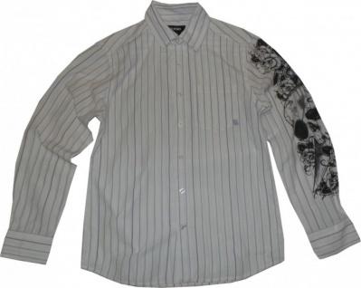 Etnies Skateboard Hemd White/Lavende Stripes