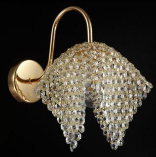 Casa Padrino Jugendstil Kristall Wandleuchte Gold 9 x H 17 cm Jugendlicher Stil - Wandlampe Wand Beleuchtung