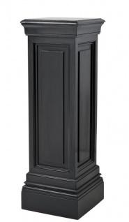 Casa Padrino Designer Mahagoni Säule Schwarz 33 x 33 x H. 100 cm - Luxus Beistelltisch