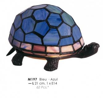 Tiffany Decoleuchte Durchmessr 21cm M197 Schildkröte Blau Leuchte Lampe