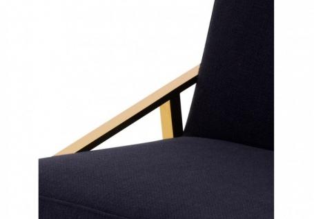 Casa Padrino Luxus Designer Stuhl Schwarz Gold - Luxus Kollektion - Vorschau 3