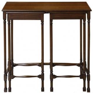 Casa Padrino Luxus Mahagoni Beistelltisch Set Dunkelbraun 67 x 28 x H. 70 cm - Luxus Möbel - Vorschau 4