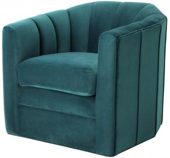 Casa Padrino Luxus Drehsessel Meergrün 84 x 85 x H. 77 cm - Wohnzimmer Sessel