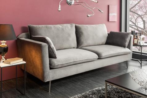 Casa Padrino Designer Wohnzimmer Sofa Silbergrau 210 x 85 x H. 90 cm - Designer Möbel - Vorschau 3