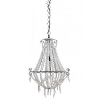 Casa Padrino Hängeleuchte Deckenleuchte Weiß Durchmesser 42 x H 56 cm - Möbel Lüster Leuchter Deckenleuchte Deckenlampe