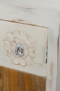 Casa Padrino Landhausstil Kommode mit 2 Türen Antik Weiß / Mehrfarbig 100 x 40 x H. 90 cm - Shabby Chic Möbel - Vorschau 4