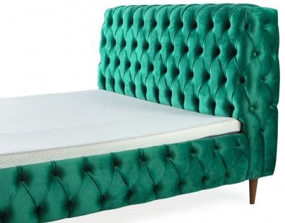 Casa Padrino Luxus Chesterfield Doppelbett Grün / Braun - Verschiedene Größen - Modernes Bett mit Matratze und Sitzbank - Schlafzimmer Möbel - Vorschau 2