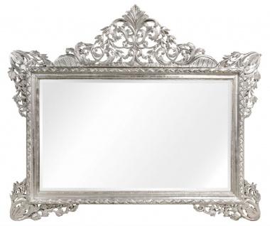 Casa Padrino Barock Wandspiegel Silber 190 x H. 155 cm - Wohnzimmer Spiegel im Barockstil