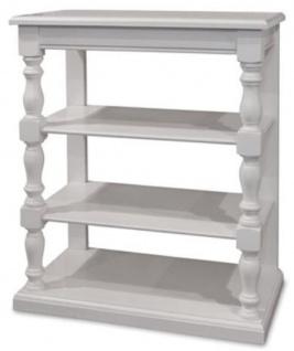 Casa Padrino Landhausstil Konsole Weiß 80 x 45 x H. 96 cm - Massivholz Regalschrank - Landhausstil Möbel