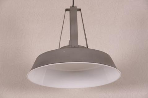 Casa Padrino Vintage Industrie Hängeleuchte Antik Stil Hellgrau Metall Durchmesser 42cm - Restaurant - Hotel Lampe Leuchte - Industrial Leuchte