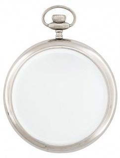 Casa Padrino Luxus Hänge Spiegel Clock vernickelte schwere Ausführung 28 x 36 cm