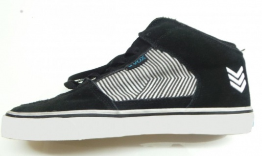 Vox Skateboard Schuhe Hewitt Black / White/ Stripes