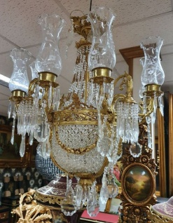 Casa Padrino Luxus Barock Kristall Kronleuchter Gold Ø 120 x H. 170 cm - Prunkvoller Kronleuchter im Barockstil - Barock Kristall Leuchten