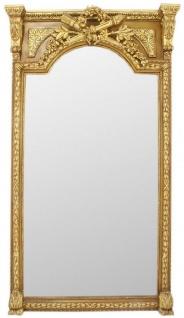 Casa Padrino Barock Spiegel Gold 120 x H. 225 cm - Prunkvoller Wandspiegel im Barockstil - Antik Stil Garderoben Spiegel - Wohnzimmer Spiegel - Barock Möbel