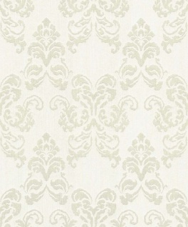 Casa Padrino Barock Textiltapete Creme / Silber 10, 05 x 0, 53 m - Deko Accessoires im Barockstil