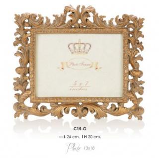 Casa Padrino Barock Bilderrahmen Gold Antik Stil 20 x 24 cm - Bilder Rahmen Foto Rahmen Jugendstil Antik Stil Mod AX5