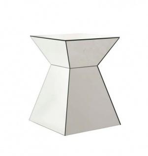 Casa Padrino Luxus Art Deco Designer Beistelltisch aus Spiegelglas - Luxus Tisch