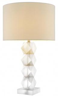 Casa Padrino Designer Milchglas Tischleuchte 16 x 48 x H. 84 cm - Hotel Restaurant Tischlampe