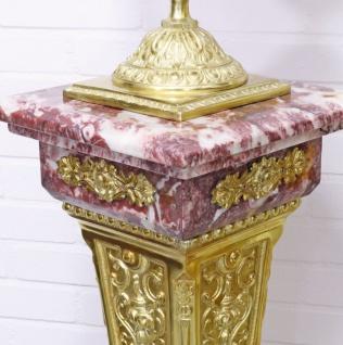 Casa Padrino Barock Vasen mit Marmor Säulen Set Rot / Gold 30 x 30 x H. 180 cm - Edel & Prunkvoll - Vorschau 4