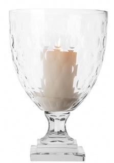 Casa Padrino Luxus Glas Kerzenleuchter 21 x H. 31 cm - Luxus Qualität