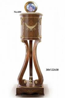 Casa Padrino Barock Säule mit Marmorbesatz 38 x 38 x H. 122 cm - Barock Möbel
