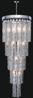 Casa Padrino Luxus Barock LED Kronleuchter Silber Ø 50 x H. 80 cm - Prunkvoller Kronleuchter im Barockstil - Luxus Qualität
