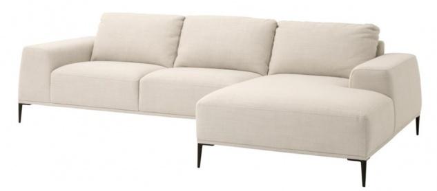 Casa Padrino Luxus Lounge Sofa Naturfarbig 285 x 164 x H. 80 cm - Luxus Kollektion