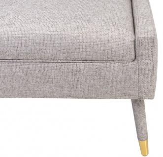 Casa Padrino Luxus Sessel Grau / Gold 76 x 88 x H. 89 cm - Wohnzimmer Sessel im Neoklassichen Stil - Designer Wohnzimmermöbel - Vorschau 5