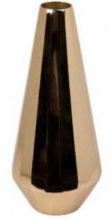 Casa Padrino Vase / Blumenvase Gold Ø 13, 5 x H. 31, 5 cm - Luxus Dekoration