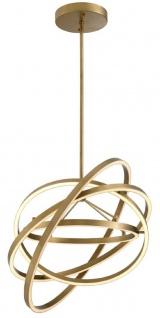 Casa Padrino Luxus LED Kronleuchter Antik Messingfarben Ø 90 x H. 102 cm - Moderner verstellbarer Wohnzimmer Kronleuchter - Luxus Qualität