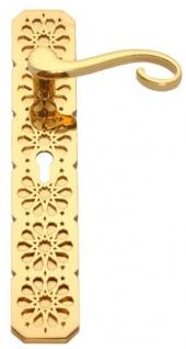Casa Padrino Luxus Barock Türklinken Set Gold 16, 5 x H. 60 cm - Edle Türgriffe mit mit 24 Karat Vergoldung - Prunkvolle Wohnaccessoires im Barockstil