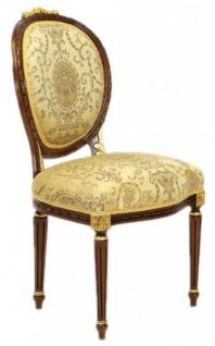 Casa Padrino Luxus Barock Esszimmer Stuhl Ludwig XV Gold Muster / Mahagoni Braun - Möbel - Vorschau 2