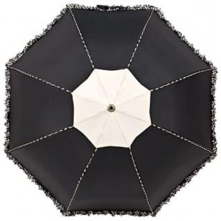 Chantal Thomass Designer Damen Regenschirm in schwarz mit schöner schwarz/weißer Kräuselkante - sehr Elegant - Made in Paris - Vorschau 2