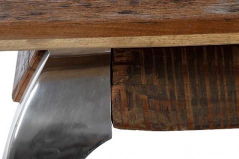 Casa Padrino Designer Couchtisch Braun / Silber 100 x 100 x H. 40 cm - Luxus Wohnzimmermöbel - Vorschau 4