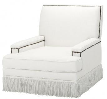 Casa Padrino Luxus Designer Sessel Weiß 90 x 102 x H. 90 cm - Wohnzimmer Möbel