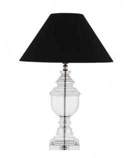 Casa Padrino Luxus Tischleuchte Nickel - Luxus Kristallglas Hotel Leuchte