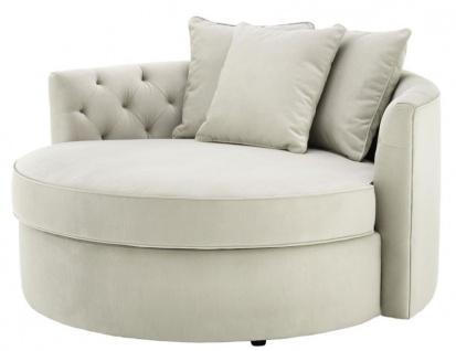 Casa Padrino Designer Sofa Hellgrau 157 x 148 x H. 90 cm - Luxus Rundsofa