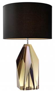 Casa Padrino Luxus Wohnzimmer Kristallglas Tischleuchte / Tischlampe - Hotel Kollektion