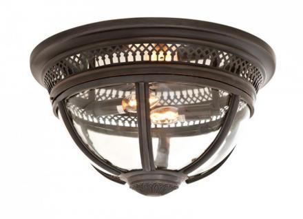 Casa Padrino Luxus Deckenleuchte Bronze Durchmesser 45 x H 30 cm Antik Stil - Möbel Lüster Deckenlampe